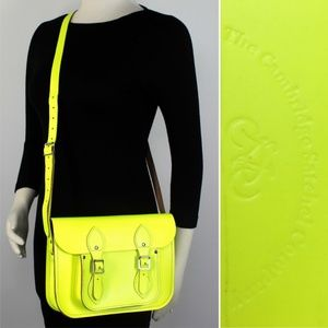 SOLD Cambridge Satchel Neonl Yellow Crossbody Bag